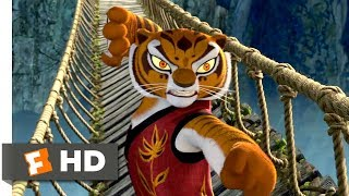 Kung Fu Panda (2008) - The Furious Five Bridge Fight Scene (7/10) | Movieclips