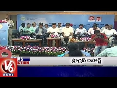 9PM Headlines | CM KCR Haritha Haram | KTR On Urban Development | TDP MPs Protest | V6 News