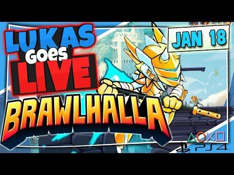 Brawlhalla PS4 w/ Lukas & Rewas - 18th January 2018 Live Stream