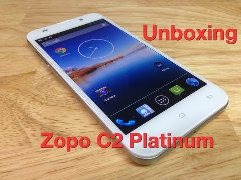Unboxing Zopo C2 Platinum pantalla a 1080p procesador 1.5GHz Quad Core
