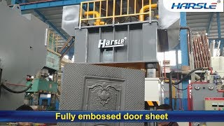 HARSLE Double Action Hydraulic Steel Metal Door Embossing Machine, 4500T door press