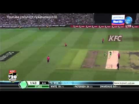 Kevin Pietersen 54 vs Sydney Sixers BBL04 2015 HD