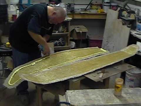 Molding A Fiberglass Wing Part One Of 2 Youtube