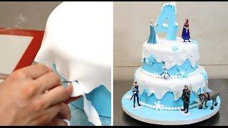 How To Make a Frozen Disney Cake by CakesStepbyStep