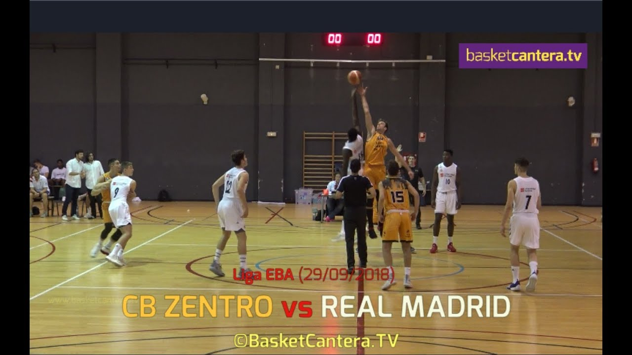 EBA - CB ZENTRO vs REAL MADRID.- Liga EBA 2018 (BasketCantera.TV)