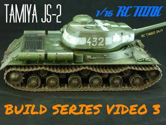 Tamiya JS-2 1/16 RC Tank Build Series Video 3