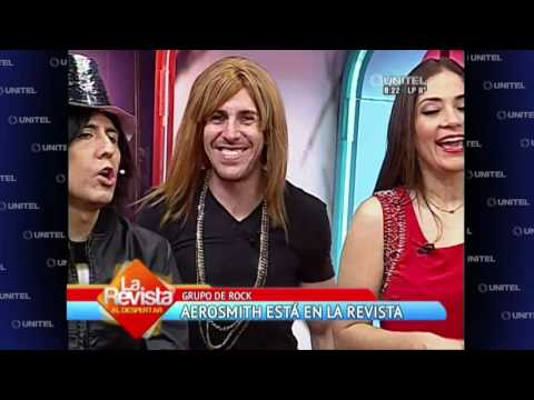 VIDEO: HUMOR: LA BANDA LEGENDARIA 'AEROSMITH' LLEGÓ A BOLIVIA Y CANTARON EN LA REVISTA
