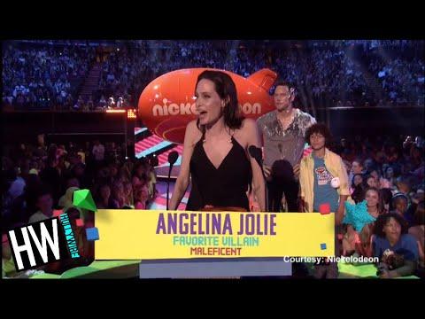 Angelina Jolie Wins Kids' Choice Award With Shiloh & Zahara! (VIDEO)