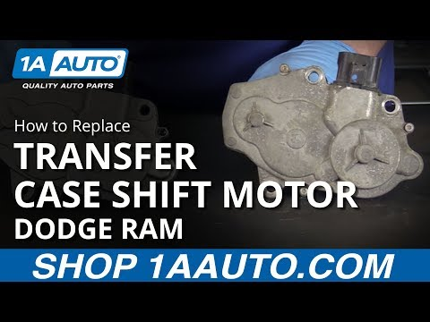 How to Install Replace Transfer Case Shift Motor 2006-10 Dodge Ram 1500