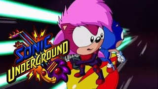Sonic Underground 120 - Three Hedgehogs and a Baby