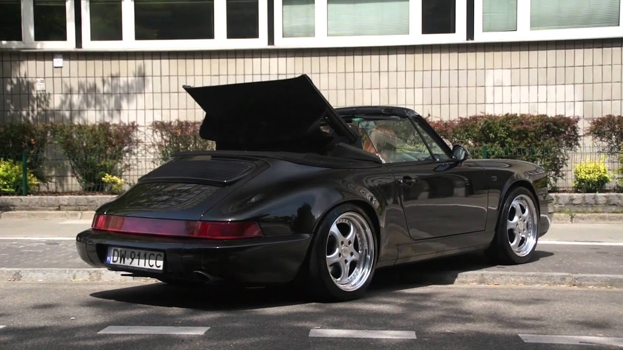 Porsche 911 964 Carrera 2 Cabrio In Warsaw Youtube