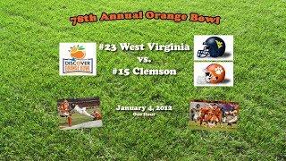 2012 Orange Bowl (West Virginia v Clemson) One Hour