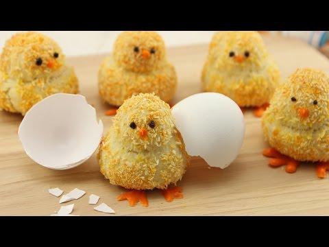 Osterküken Cookies mit Kokos & Zitrone -  Kókuszos és citromos húsvéti csibék készítése