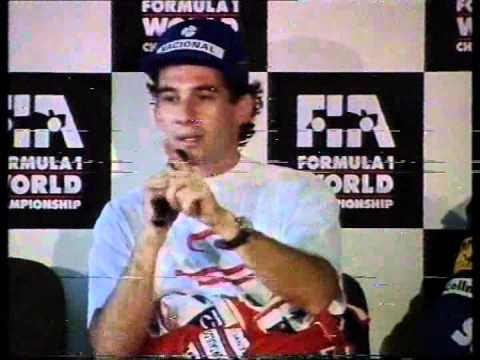 1993 Australian GP Ayrton Senna Post-Qualifying Press Conference.