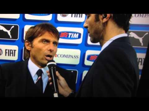 INTERVISTA ANTONIO CONTE - ITALIA 2 - 0 OLANDA 04/09/2014