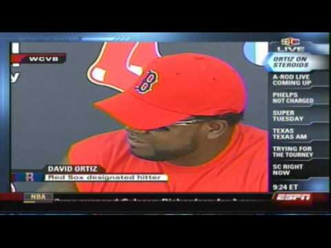 MLB :: David Ortiz Speaks About Steroid Testing :: Video
