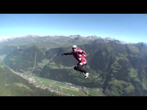 Skydiver nearly impacts in mountain