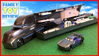 New Cars 3 Toys Jackson Storm's Transforming Hauler Playset Gale Beaufort 🔴 Live Toy Unboxing Show