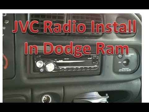 How to install a JVC radio in a Dodge Ram. part 2