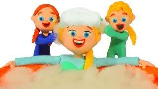 FROZEN ELSA & SUMMER SPA ❤ Spiderman, Hulk & Frozen Play Doh Cartoons For Kids