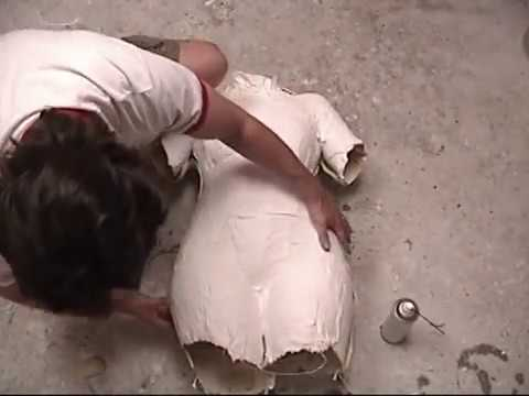 how to make body container for plaster mold