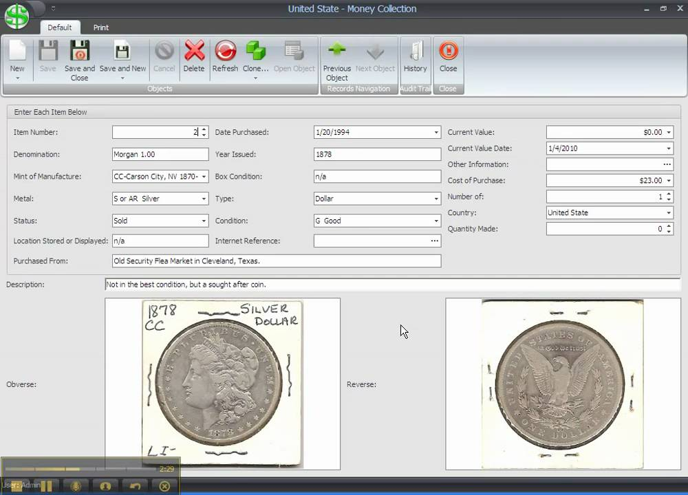 Organize and Inventory your coin collection