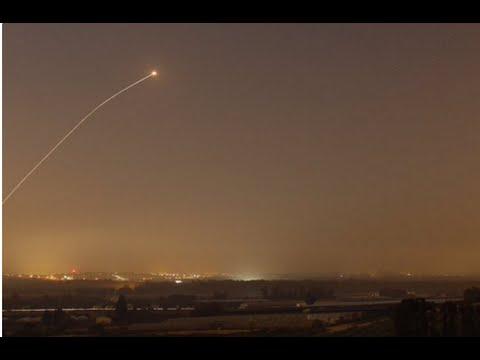 Israel: Aviones  atacan Gaza en respuesta al lanzamiento de un misil