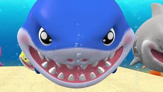 Baby Shark with Funny Hippo Baby    More Nursery Rhymes Songs for Kids    Hip Bi