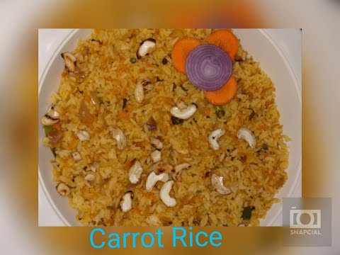 CARROT RICE RECIPE IN TELUGU