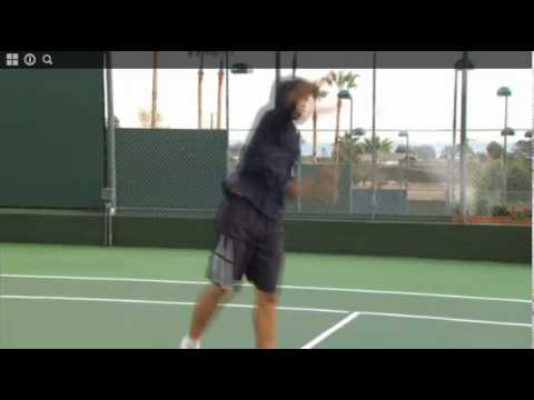 Tennis Tip - Tie the knot with a towel to serve - Tennis Instruction