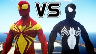 Iron Spider VS Symbiote Spider-Man - EPIC BATTLE