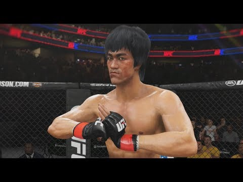 ENTER THE DRAGON!!! UFC 3 PS4 GAMEPLAY - BRUCE LEE VS CM PUNK