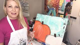 The Social Easel - Fall Pumpkin Painting
