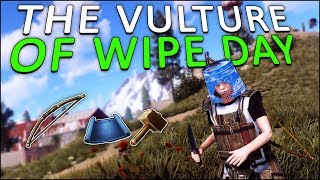 The VULTURE of WIPE DAY! - Rust Solo #1