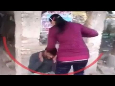 Two sisters Beat a Man Over eve teasing in Uttar Pradesh: Watch Exclusive