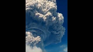 Mushroom Cloud Towers Over Erupting Sinabung Volcano