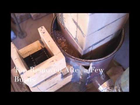 Homemade Gravity Fed Pellet & Wood Fired Rocket Stove