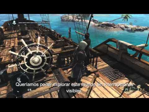 Assassin's Creed 4: Black Flag - ¡13 min de gameplay de mundo abierto! El Caribe - [Español]