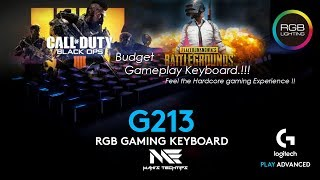 Logitech Prodigy G213 Gaming Keyboard Review and Unboxing !!!