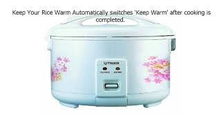 Stainless Steel Gray Rice Cooker and Warmer Tiger JNP-S18U-HU 10-Cup Uncooked