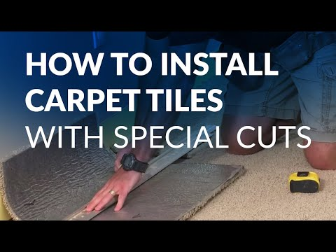 How to Install Carpet Tiles (with Special Cuts)