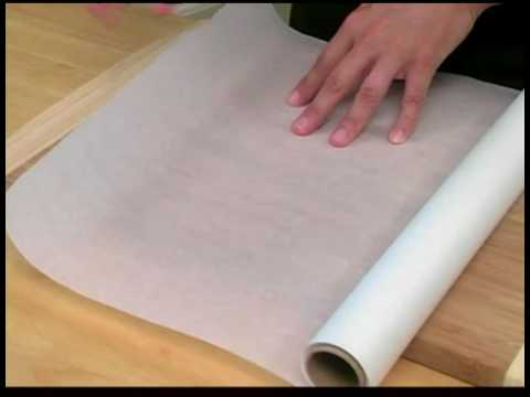 Line Cake Pan With Wax Paper