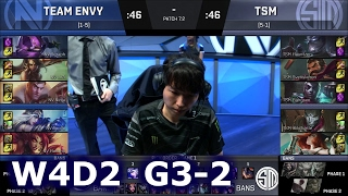 TSM vs Team EnVyUs Game 2 | S7 NA LCS Spring 2017 Week 4 Day 2 | TSM vs NV G2 W4D2