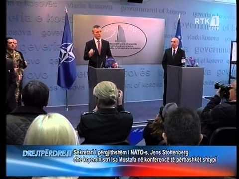 SHEFI I NATO JENS STOLTENBERG NE KOSOVE PER LUFTEN KUNDER TERRORIZMIT LAJM