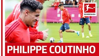 Philippe Coutinho39s First Training at FC Bayern MГnchen