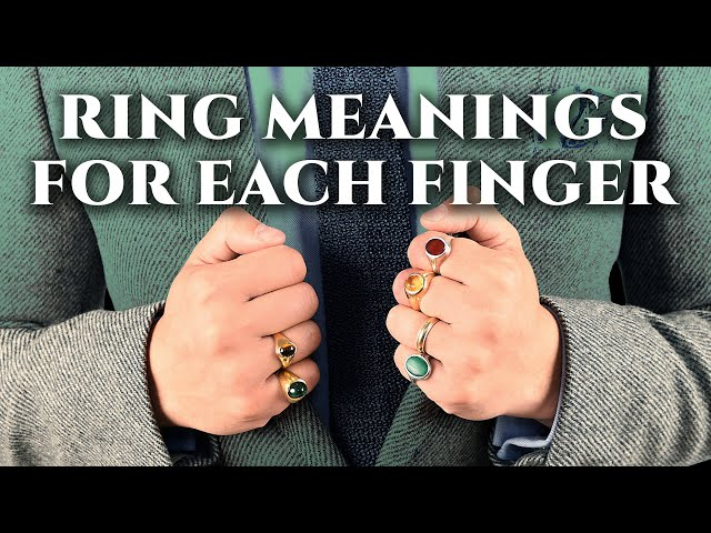 Rings amp Their Meaning, Symbolism For Men - What Fingers To Wear A Ring On