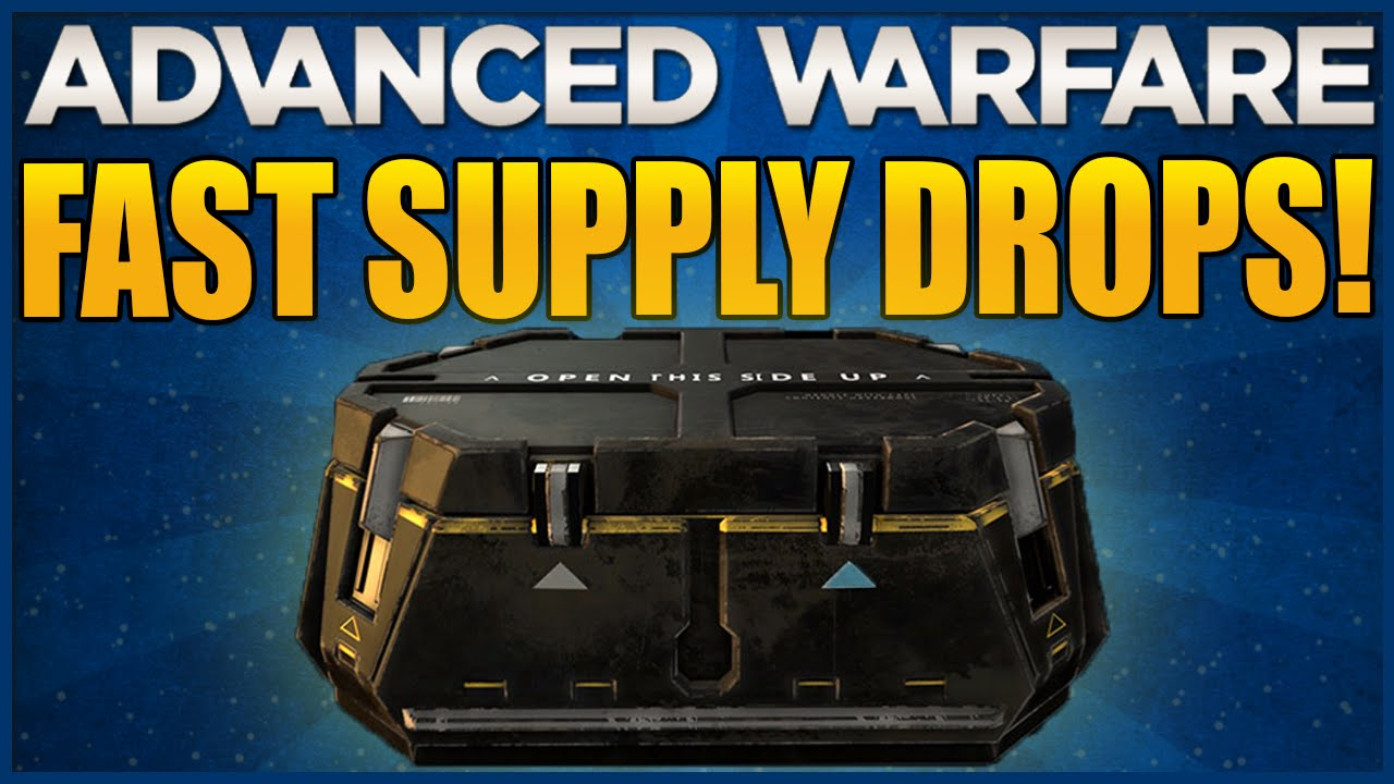 how to get supply drops in advanced warfare