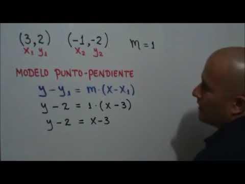 Ecuación general de una recta dados dos puntos