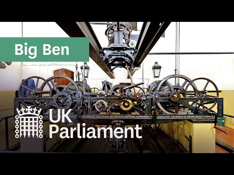 Winding the mechanism that powers Big Ben