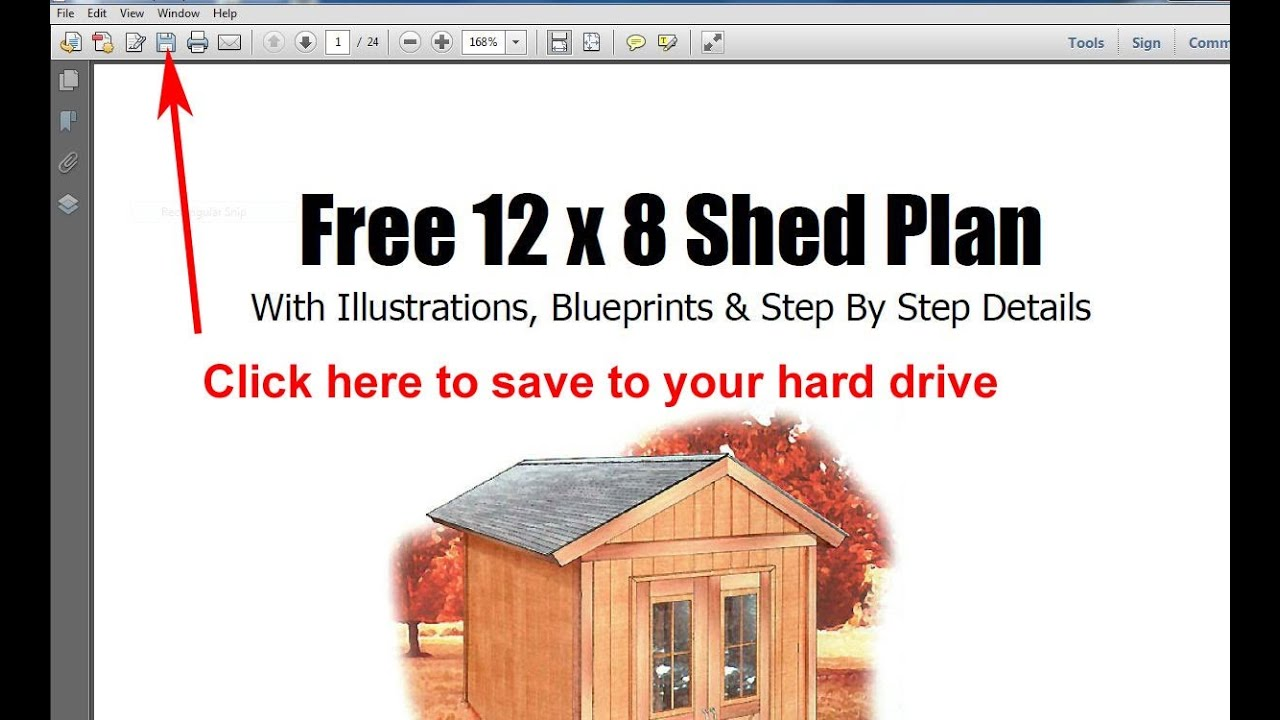 free 8x12 shed plans